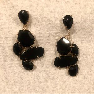 Kendra Scott dangle earrings, black multi-stone